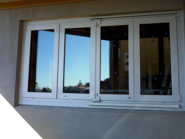 Bi folding window upvc double glazing windows Folding window