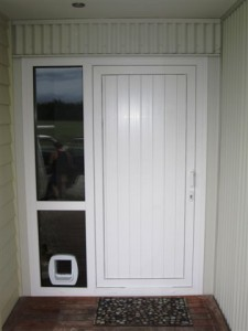 Upvc Door Panel With Cat Flap Fitted