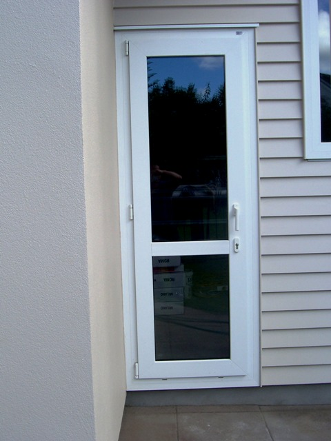 French and hinged door upvc double glazing windows for Back door with window that opens