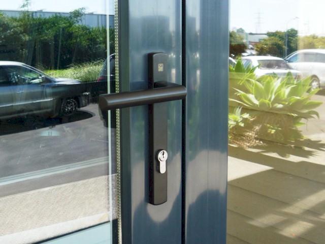 Siegenia Entry Door Handle Brown Homerit Upvc Double Glazing